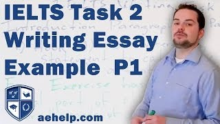 IELTS task 2 writing structure with example, part 1