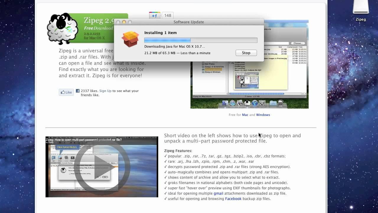 Zipeg for Mac full version free download - license key or register