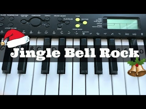 Jingle Bell Rock | Easy Keyboard Tutorial With Notes (Right Hand)