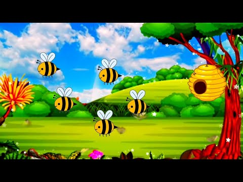 Here Is The Beehive | Honey Bees Learn 12345 For Kids Songs | Kids Fun l