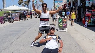 HE ALMOST BROKE HIS BACK TO GET IN THE VLOG!!
