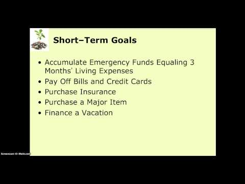 CHAPTER 1 VIDEO   THE FINANCIAL PLANNING PROCESS