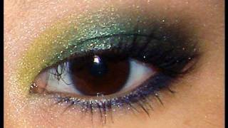 exotic smokey green eyes tutorial