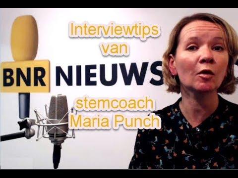 Interviewtips van BNR Nieuwsradio stemcoach Maria Punch