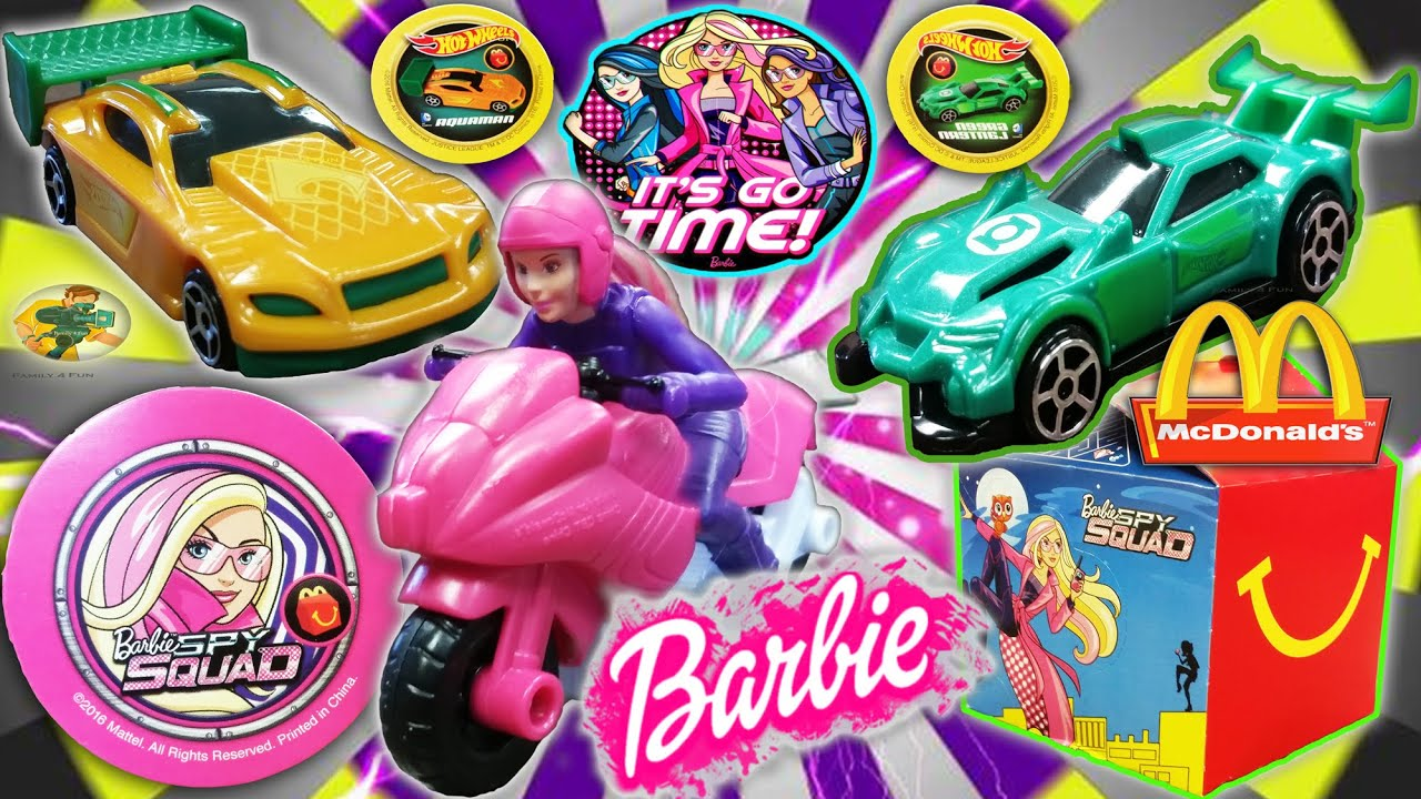 McDonald s BARBIE SPY SQUAD From 2016 Movie Happy Meal HOT WHEELS