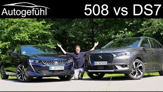 DS7 Crossback 4x4 vs Peugeot 508 SW PHEV comparison REVIEW SUV vs Estate - what's better?