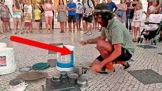 В Лиссабоне на площади Rossio, лабает барабанщик. Португалия(, 2016-08-31T17:15:17.000Z)