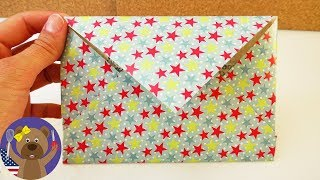 How to make a card envelope | super easy envelope for postcards | colorful paper