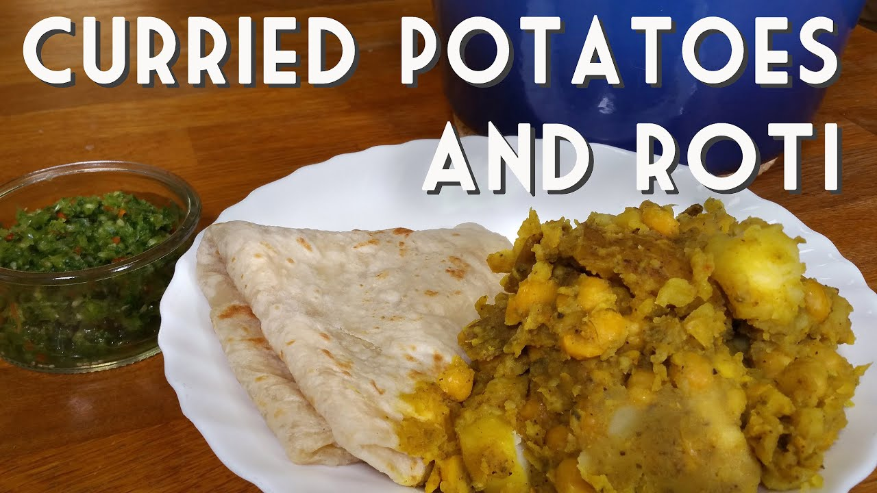 Vegan trinidad potato and chickpea curry with roti recipe youtube forumfinder Choice Image