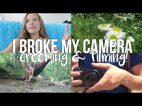 I BROKE MY CAMERA! Creeking & Filming (Behind the Scenes)