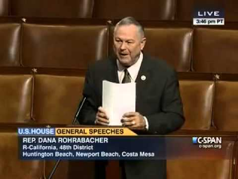 PART 1: Rep. Rohrabacher speaking on the House floor regarding patent policy