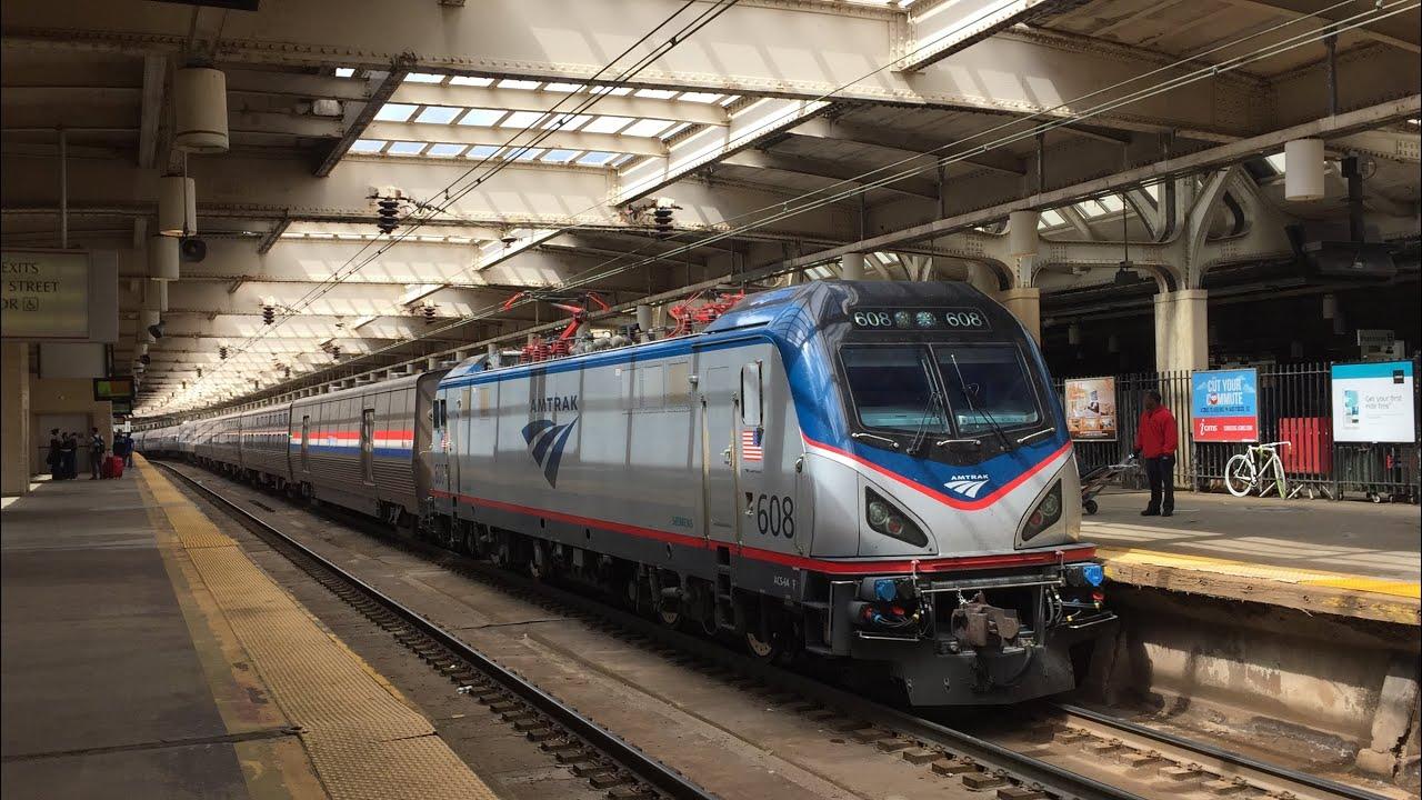 Amtrak HD 60fps: Northeast Corridor Action @ Newark Penn Station 5 ...