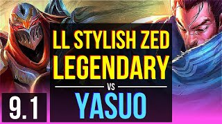 LL Stylish ZED vs YASUO (MID) | Legendary | NA Diamond | v9.1