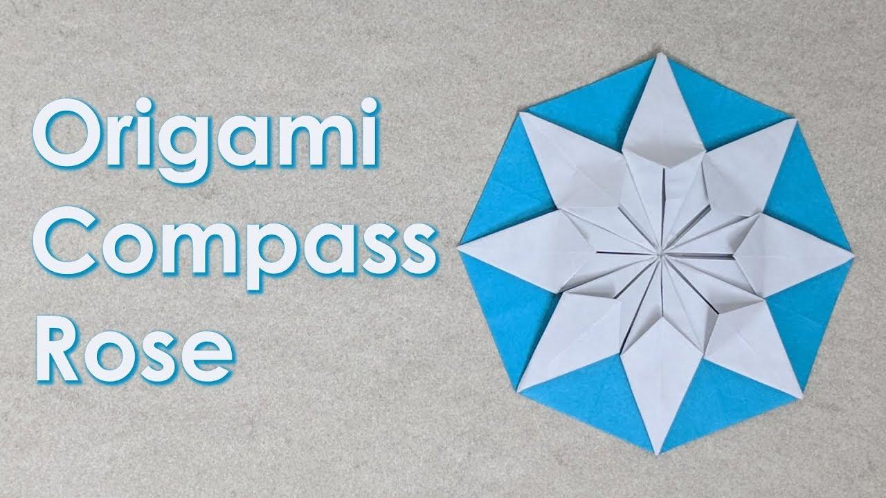 Christmas Origami Tutorial Compass Rose Da Everov Youtube Diagrams