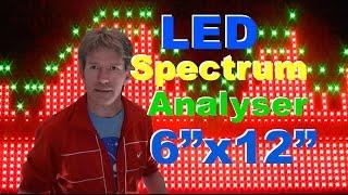 "2048 LED spectrum audio analyser MS3264 from Banggood 6""x12"""