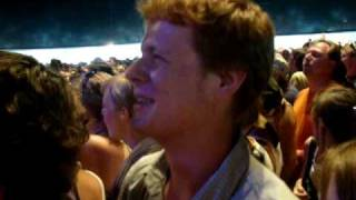 Rock Werchter Crowd waiting for Katy Perry and singing Viva La Vida, by Coldplay