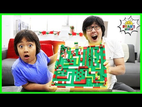 How to Make DIY Lego Maze Christmas Edition!!!!