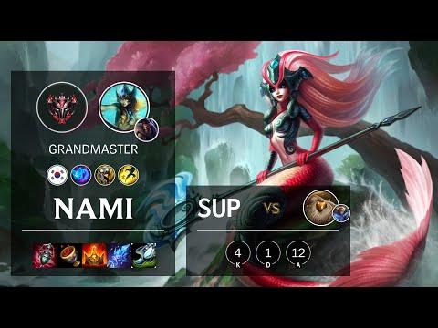 Nami Support vs Bard - KR Grandmaster Patch 10.14