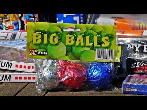 EXTREM HEFTIG! Xplode Big Balls XXL Crackling Bälle  PyroExtremGermany
