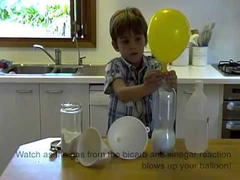 How to do Cool balloon fizz-inflator science experiment