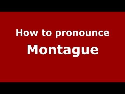 How to pronounce Montague (Italian/Italy) - PronounceNames.com
