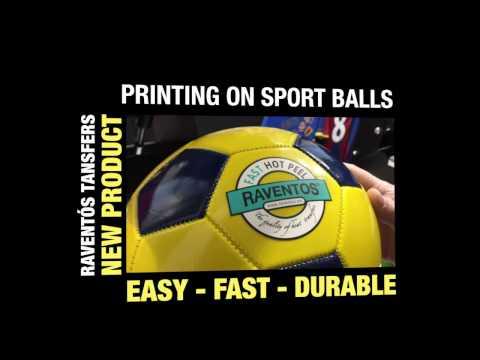 PRINTING ON SPORT BALLS  - SCREEN PRINTING TRANSFERS -