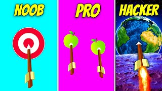NOOB vs. PRO vs. HACKER Arrows | Flying Arrow