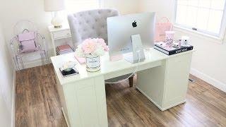 Office Makeover + Room Tour & Desk Tour