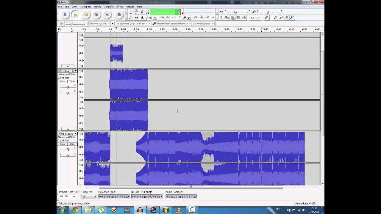 how to make a mashup song using audacity