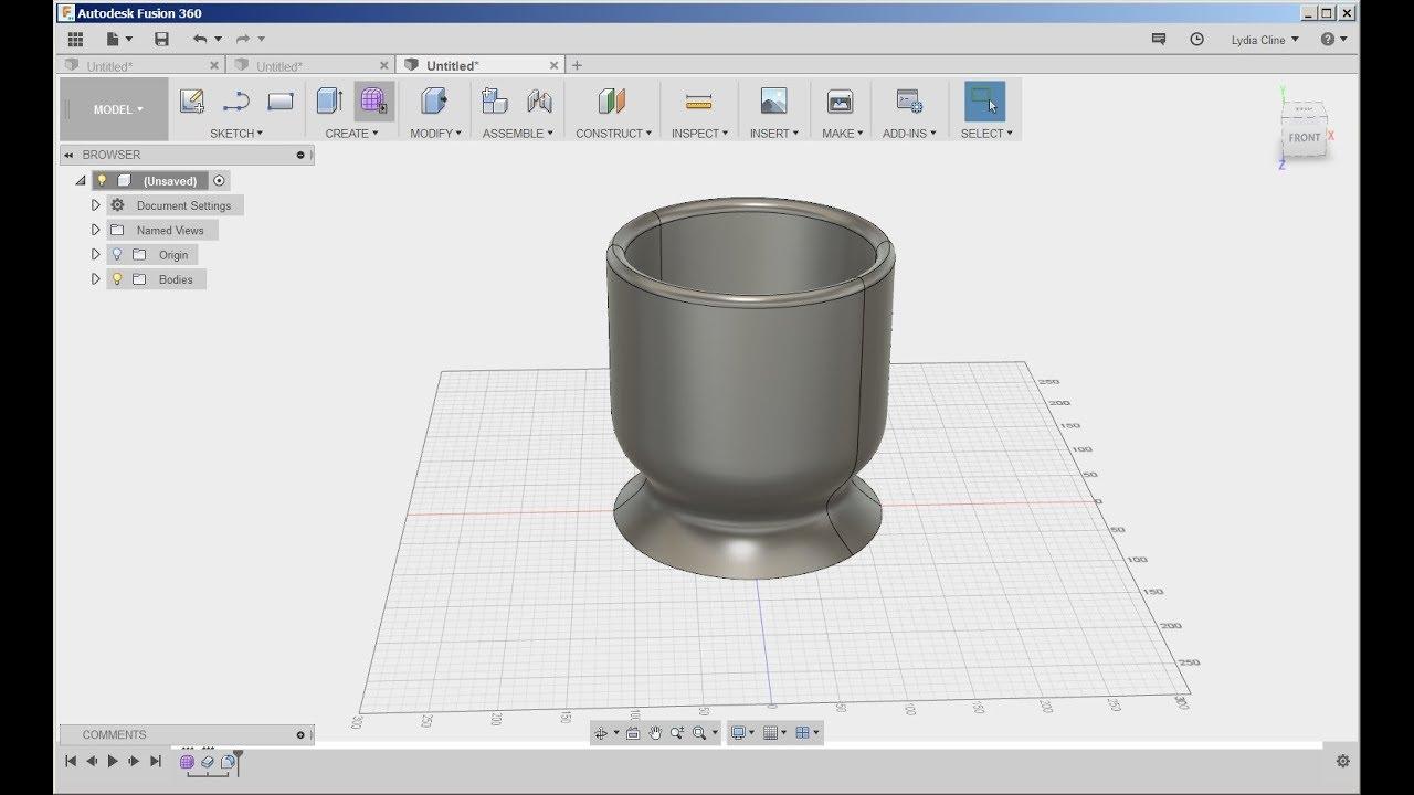 Fusion 360: Sculpt a Vase