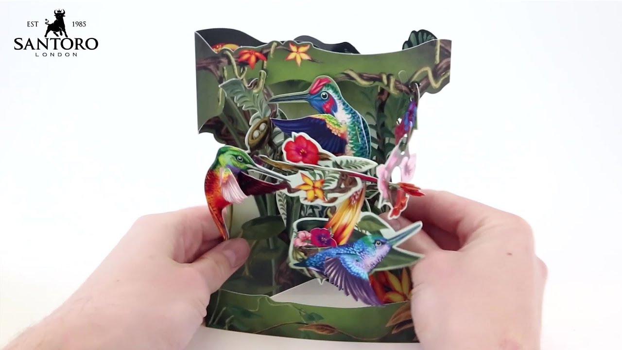 Santoro 3D Pop Up Swing Card SC203 - How To
