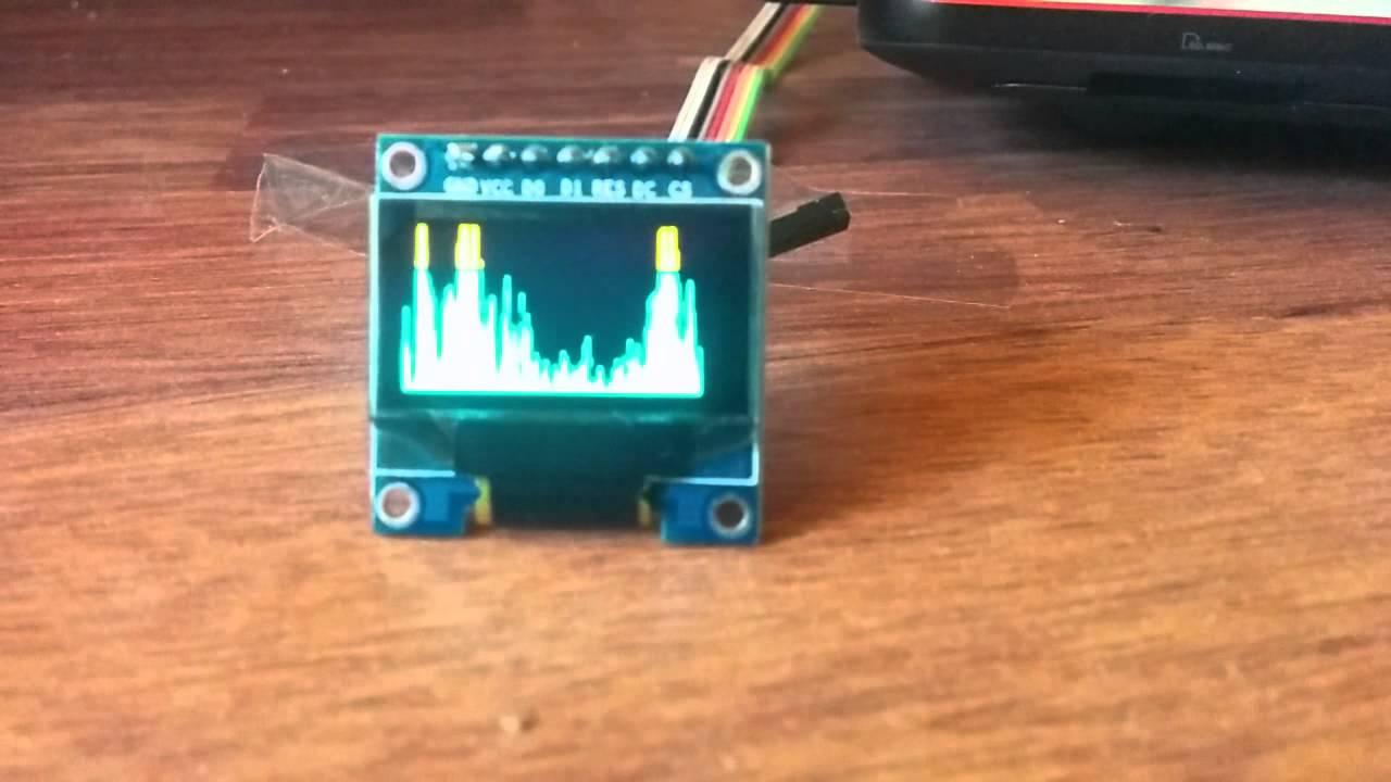 Teensy audio shield oled ssd spectrum analyzer