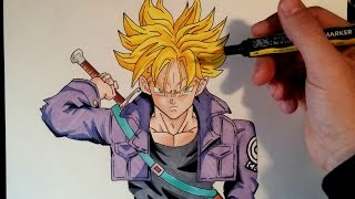 Cómo dibujar a Trunks del futuro SSJ | How to draw Future Trunks SSJ | ArteMaster