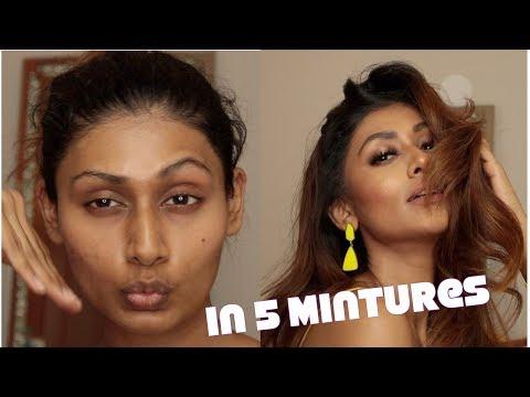 QUICK EASY 5 MINUTE MAKEUP TUTORIAL | Bosslady Shruti