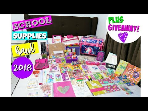 Back to School Supplies Haul 2018 + GIVEAWAY! (Philippines)