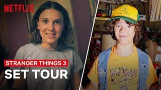 Download Stranger Things 3 Cast Give You An All Access Behind the Scenes Tour | Netflix Mp3 and Videos