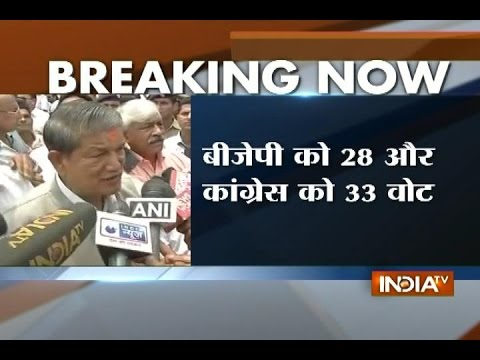 Harish Rawat Speaks to the Media after Trust Vote in Uttarakhand Assembly