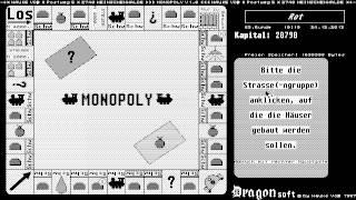 ATARI ST Monopoly OTHER 1987 Dragonsoft de FW monochrome