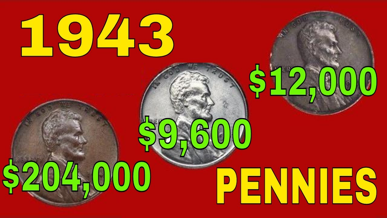 Super rare 1943 pennies worth money recently sold! Valuable pennies to look  for!!