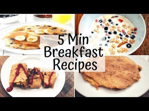 5 Min Healthy Breakfast Recipes For The Week| For Working Women| Diet Friendly