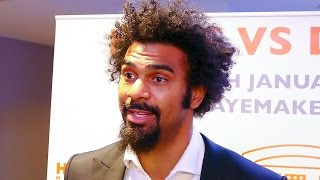 David Haye is back! & talks fighting Mark de Mori this January