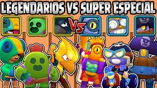 LEGENDARIOS VS SUPER ESPECIALES | CUAL ES MEJOR CALIDAD? de  BRAWL STARS | LEGENDARY VS  SUPER RARE
