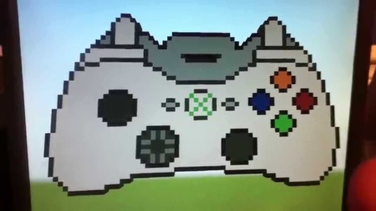 pixel art manette xbox 360 youtube. Black Bedroom Furniture Sets. Home Design Ideas