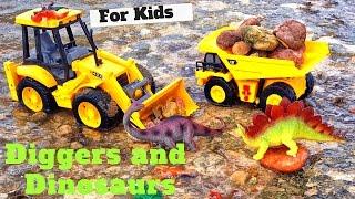 Kids Playing With TOY TRUCKS  l GARBAGE TRUCKS RULE l Dump Truck l Digger l Backhoe l FUN Toys!