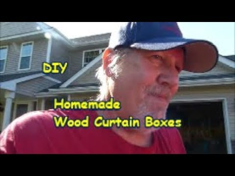 DIY Homemade Wood Curtain Boxes
