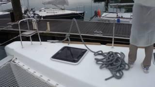 Catamaran yacht with YANMAR Joystick Control System