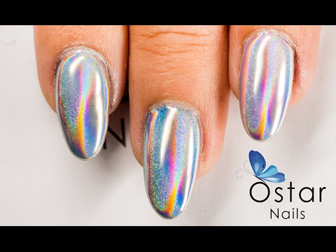 Rainbow Carnival Mirror Powder Premium Collection Holographic Nails You