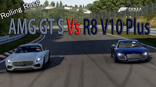 Forza Motorsport 6 - DRAG RACE: Audi R8 V10 Plus Vs Mercedes AMG GT S