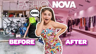I Turned my Garage into a $10,000 Fashion Nova DREAM CLOSET **SURPRISE REACTION**💕| Piper Rockelle