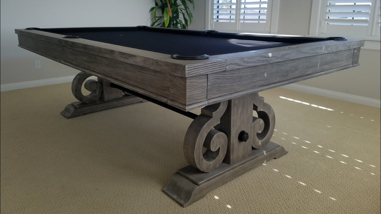 Imperial Barnstable Silver Mist Pool Table With Optional Dining Top And Benches